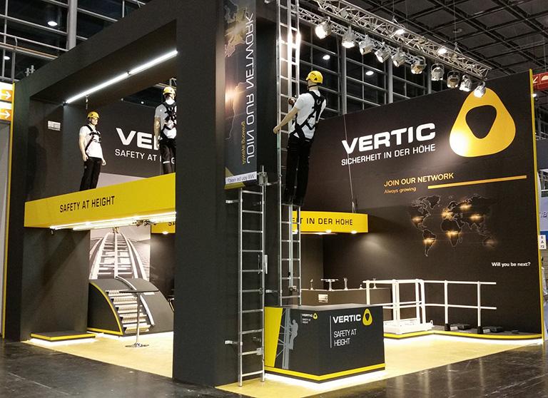 VERTICs Stand in A+A Düsseldorf 2015