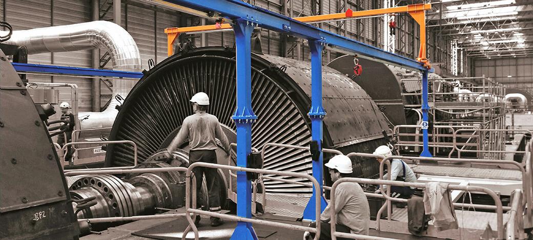 Horizontales Schienensystem ALTIRAIL bei VERTIC für Wartung auf Maschinen