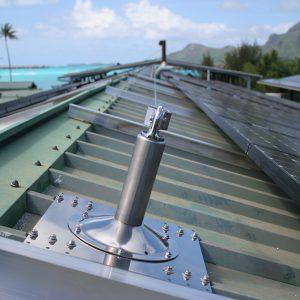 Horizontales Seilsicherungssystem BATILIGNE bei VERTIC auf Photovoltaikanlage